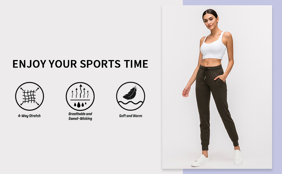 joggers lounge pants pockets Length tapered sweatpants lightweight athletic fitted buttery soft yoga