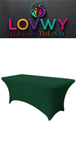 stretch table cover 6ft;outdoor table cover;fitted table cover;party table cover;table cover rolls