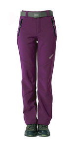 Womens Fleece Pants Outdoor Windproof Hiking Moutain Snow Ski Pants Trousers