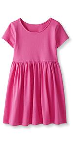 Girls Cotton Short Sleeve Dress