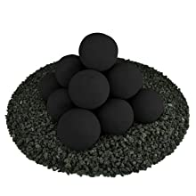 Ceramic Fire balls medium 14 multiple 2 inch circular fire proof modern new unique