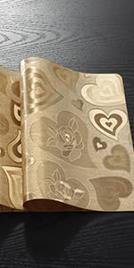 Placemats-Loving Heart-Gold
