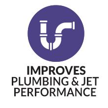 IMPROVES PLUMBING & JET PERFORMANCE