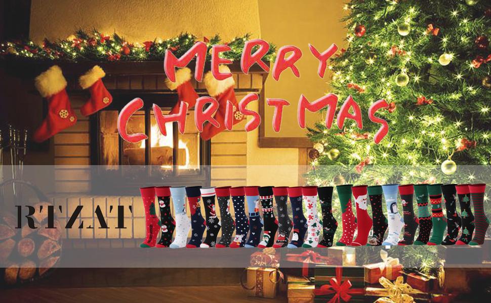christmas cartoon holiday long socks knee high socks black friday thanksgiving day gifts for mom cyb