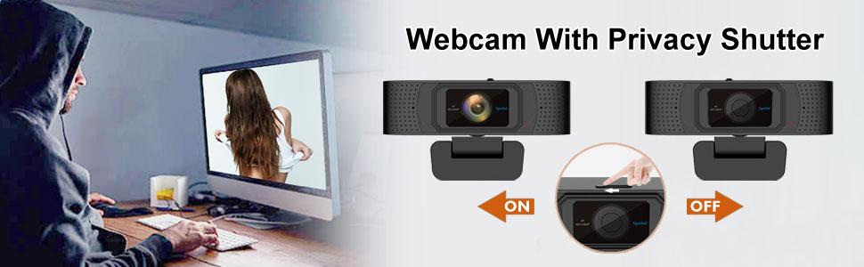 Auto Focus webcam privacy cover