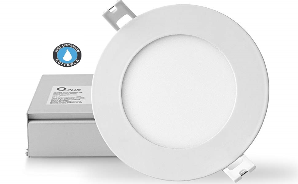 12 Pack ETL Listed 5000K Daylight White 600Lm LED Ceiling Light 65W Equivalent 12PK 4 inch Slim LED Downlight Retrofit LED Recessed Lighting Fixture Dimmable,9W