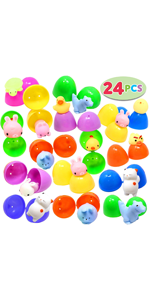 24 Pieces Mochi Squishy Prefilled Easter Eggs