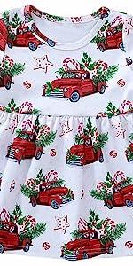 圣诞女童卡车连衣裙