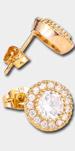 cz earrings square