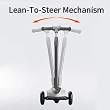110lb Weight Limit MammyGol Kick Scooters for Kids,Adjustable Handle Folding LED Spray Jet Scooter 3 Wheeled Age 3-8