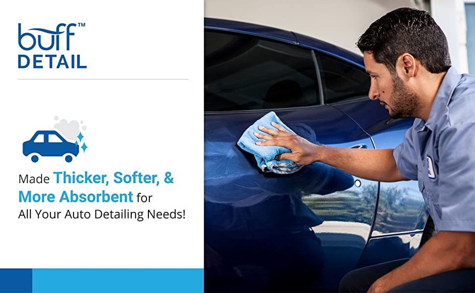 Buff Auto Detail Microfiber Towels For Cars