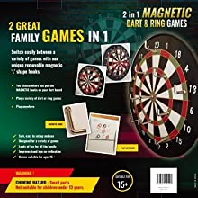 2 games in 1. Magnetic darts and ring toss game