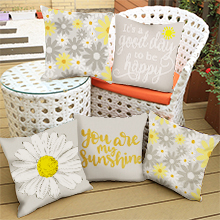 spring throw pillow covers set of 4