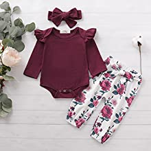 Maroon Baby Girl Outfits