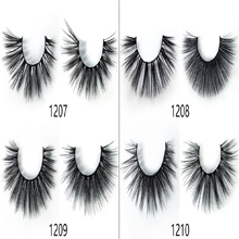 12 pair of large capacity, two styles, each style 6 docking eyelashes