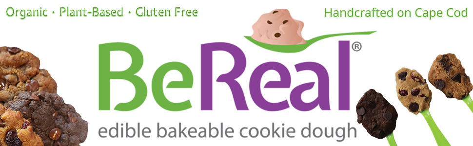 Be Real Doughs Edible Bakeable Cookie Dough Organic Plant Based Gluten Free Handcrafted Homemade