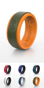 RinfitAir Orange & Green 2 Layers Rubber Rings