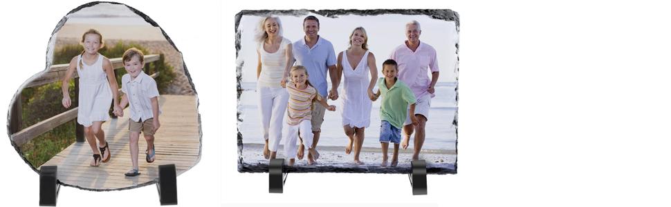 Customized Photo frame rock slate photo plague desktop photo frame xmas personalized photo gifts