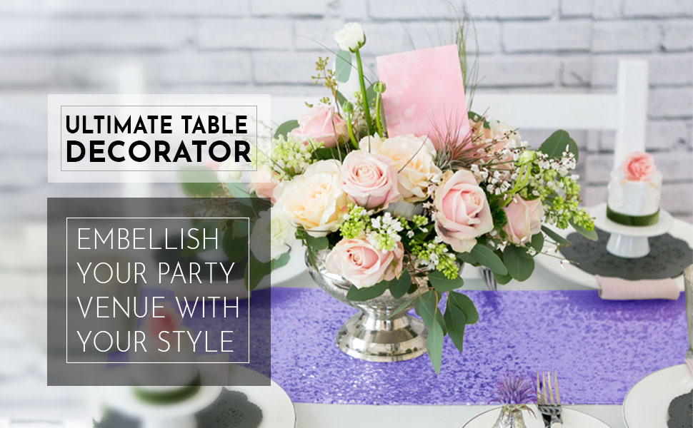satin table runner, wedding, rectangle table, birthday party round table, decorations