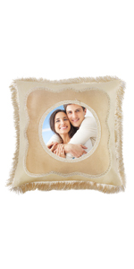 customized photo pillow wedding gifts personalized for the couple lovers DIY pillow case square