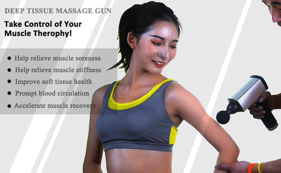 deep tiisue percussion massage gun for muscle recovery relax and therophy