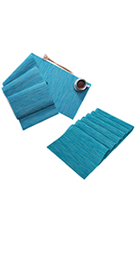Placemats and Table Runner Set for Kitchen Table Heat Resistant Non Slip Easy to Clean