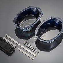 advanblack saddlebag speaker lids harley speaker lids big blue pearl saddlebags speaker lids