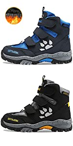 high top snow boots and hiking boots