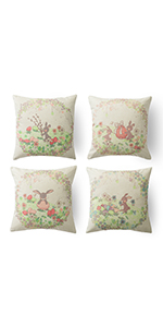 18x18 cover set on holiday pillow cushion cover 18x18 set 18x18 easter pillow cover 4 pack
