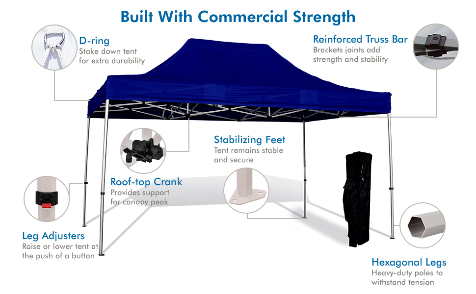 commercial grade canopy top heavy duty roof top crank strong and durable premium tent  hexagonal