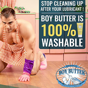 Boy Butter non-staining easy to rinse lube