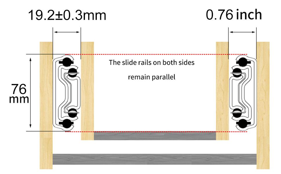 Drawer Slides Installation clearance