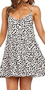 Leopard Spaghetti Strap Mini Dress