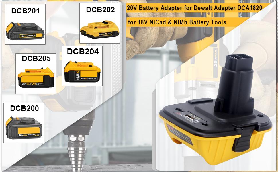 Dewalt 20V DCA1820 with USB Adapter Replacement for Dewalt