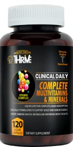 Clinical Daily COMPLETE Adult Liquid Multivitamin Liquid Filled Capsules for fast liquid absorption