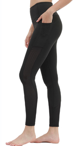 Mesh Workout Leggings with Pockets