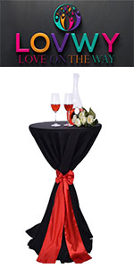 round tablecloth;cocktail table;black tablecloth;cocktail table covers;cocktail table tablecloth