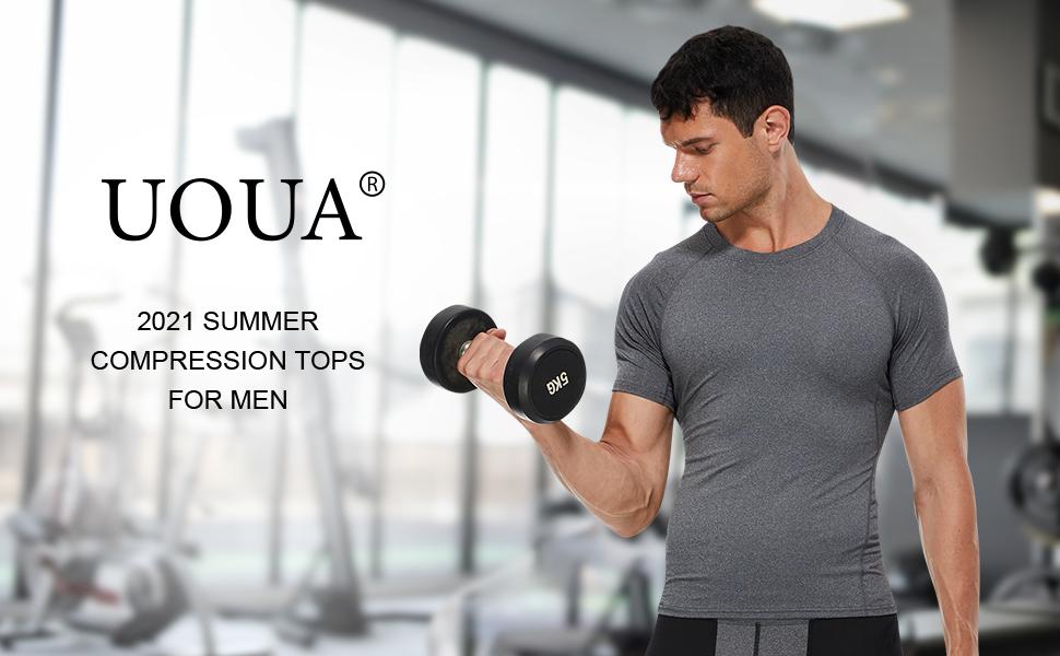 UOUA 2021 Summer Compression Tops for men