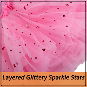BOSOWOS Layered Glittery Sparkle Stars Tutu