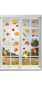 thanksgiving fall window cling