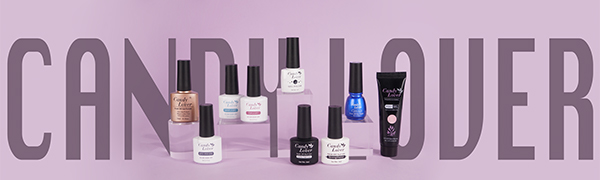 logo design candy lover gel nail polish brand