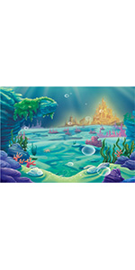 Under The Sea Mermaid Themed Photography Backdrop 6x4ft Shower Wall Supplies