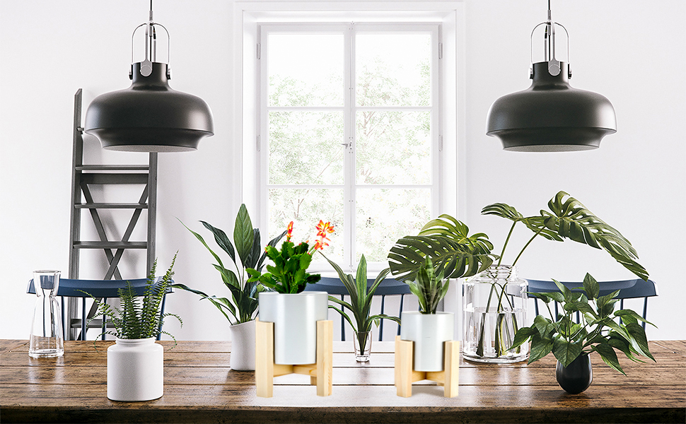 Plant stand & pot