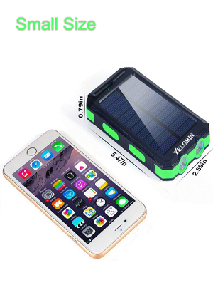 Solar battery has the small size which can make it easy for you to camping travel