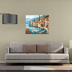 home decor sofa Pillow table lamp mural