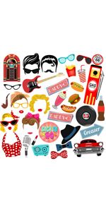 50 party photo booth props