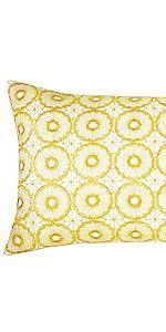yellow lumbar throw pillows