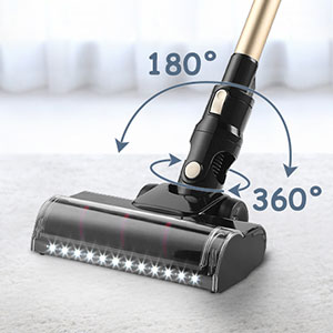 Vacuum Cleaner Handheld Cordless Stick Vacuum Cyclonic Suction,Stainless Steel