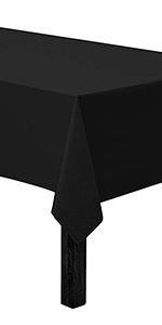 Vedouci Black Rectangle Tablecloth Rectangular TableCloth for Rectangle Tables in Washable Polyester