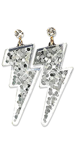 silver sparkle earrings sparkles earring accessories 80s 90s costume